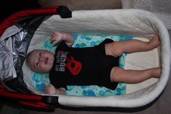 Derek out growing his bassinet